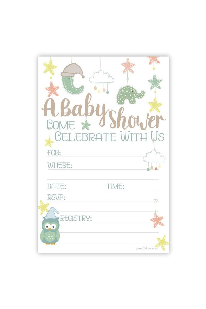 Baby Mobile Shower Invitations