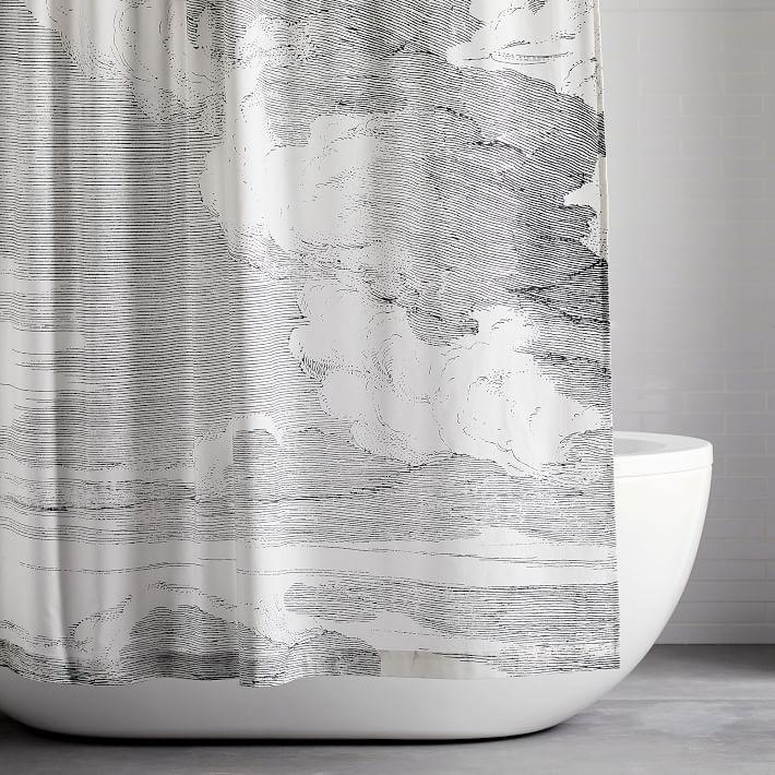 organic cloud shower curtain