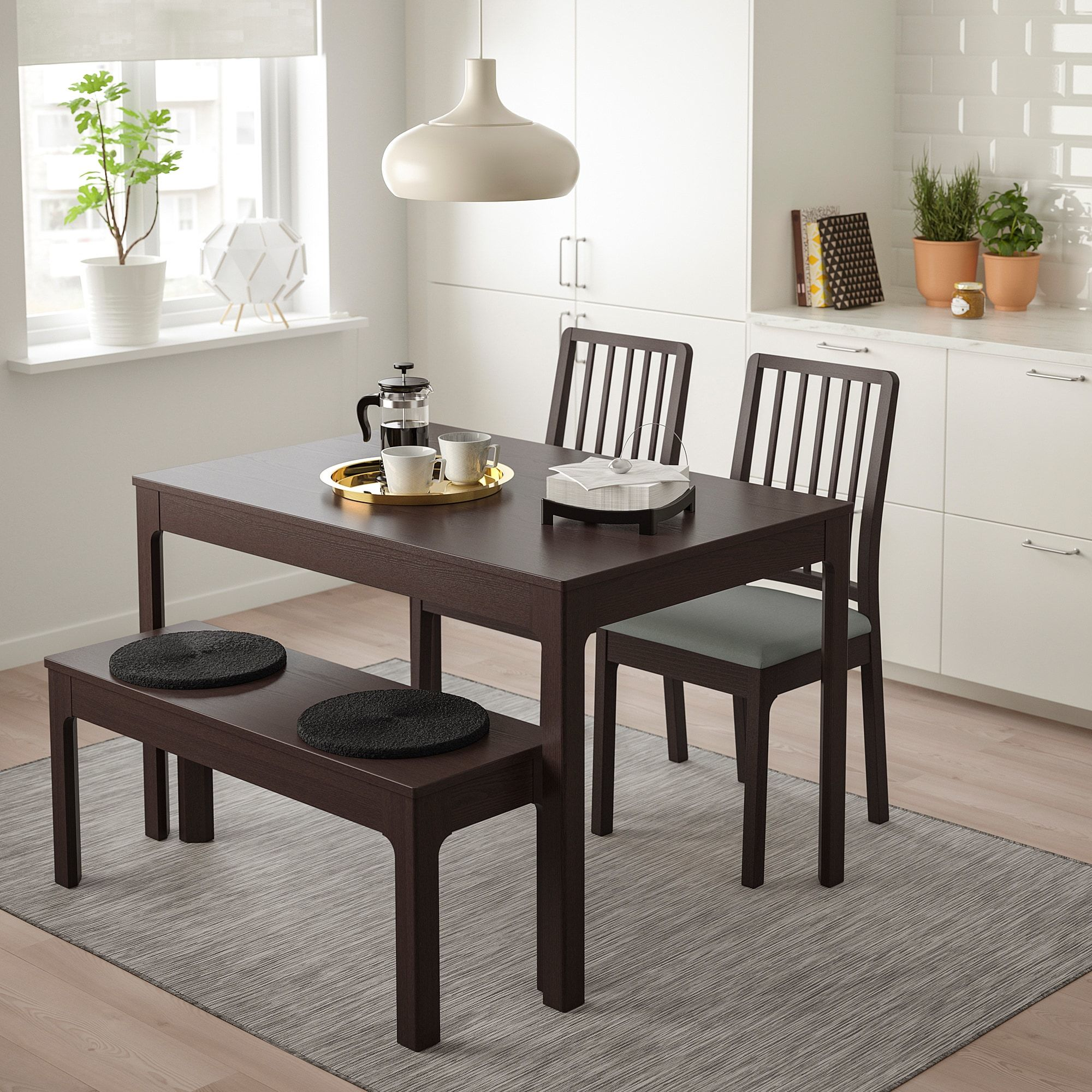 ekedalen table set with bench