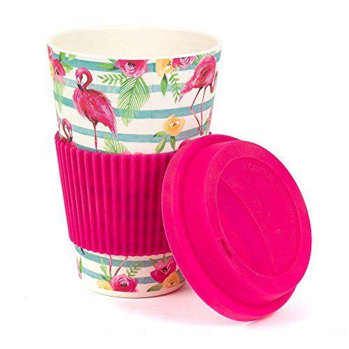 Bamboo Flamingo Reusable Coffee Cup Travel Mug (as seen on Love Island 2019)