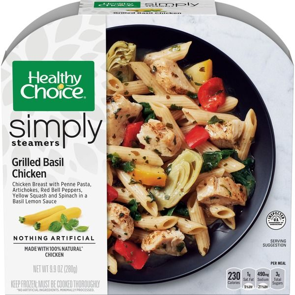 healthy choice simply steamers grilled basil chicken