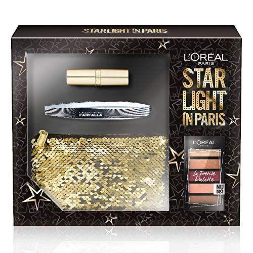 Box set with Mascara, Petite Palette, eye shadow, lipstick and Clutch