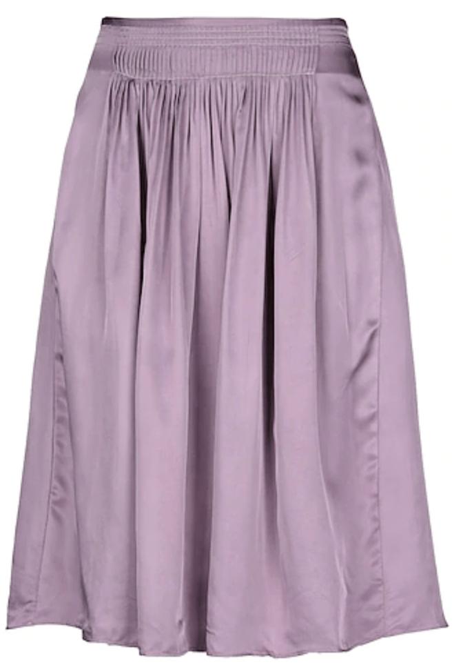 Lavender Satin Skirt