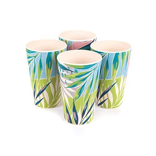4 'Kayan' Eco Friendly Bamboo Dinnerware Cups (as seen on Love Island)