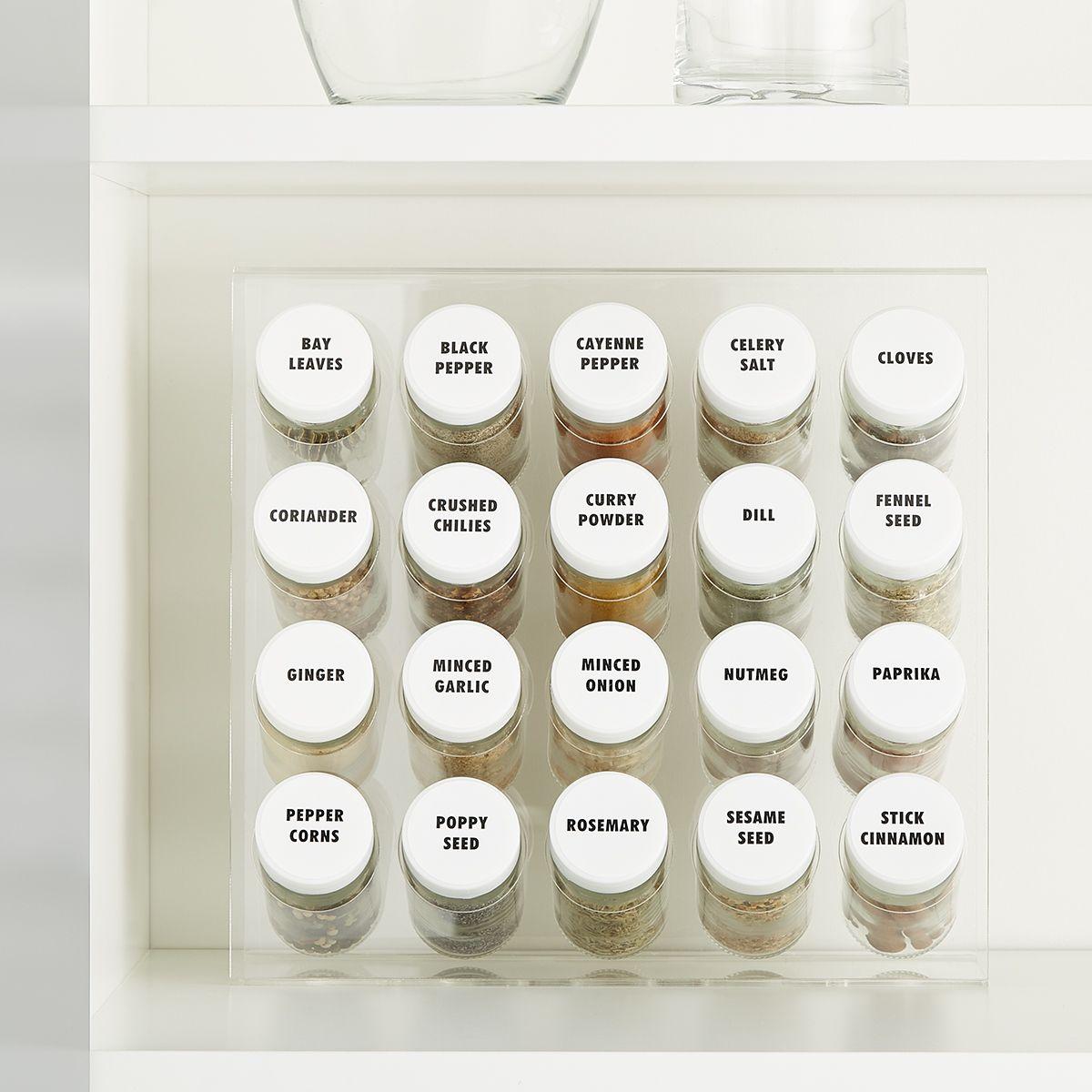 acrylic 20 bottle spice rack