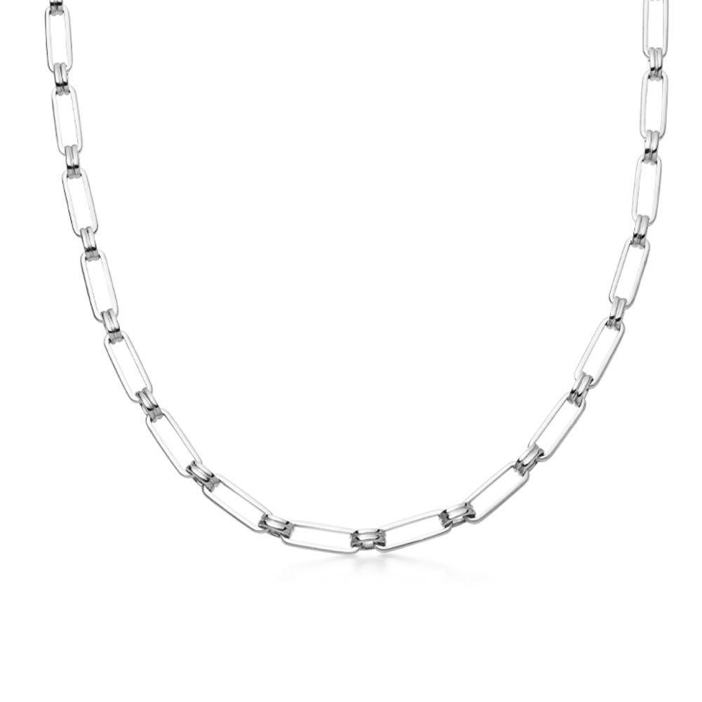 Silver Aegis Chain Necklace