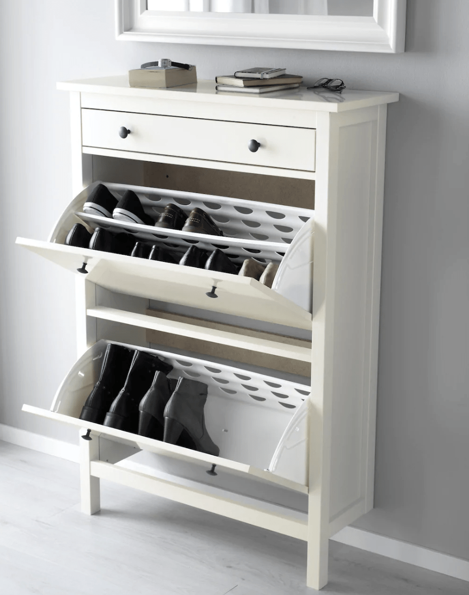 pull down shoe cabinet