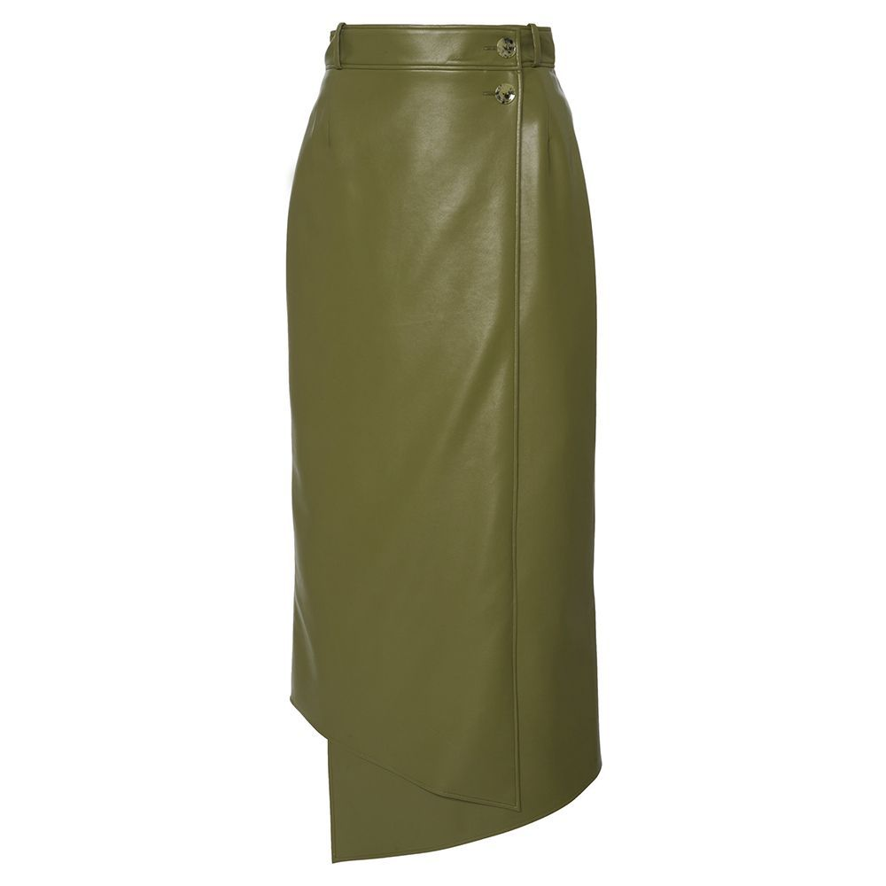 Lucilla Faux-Leather Skirt
