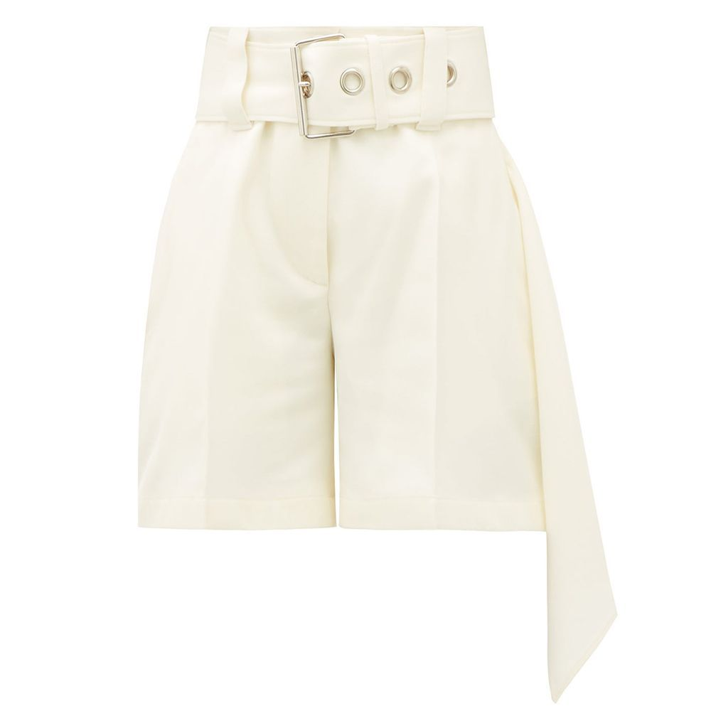 Belted Wool Shorts