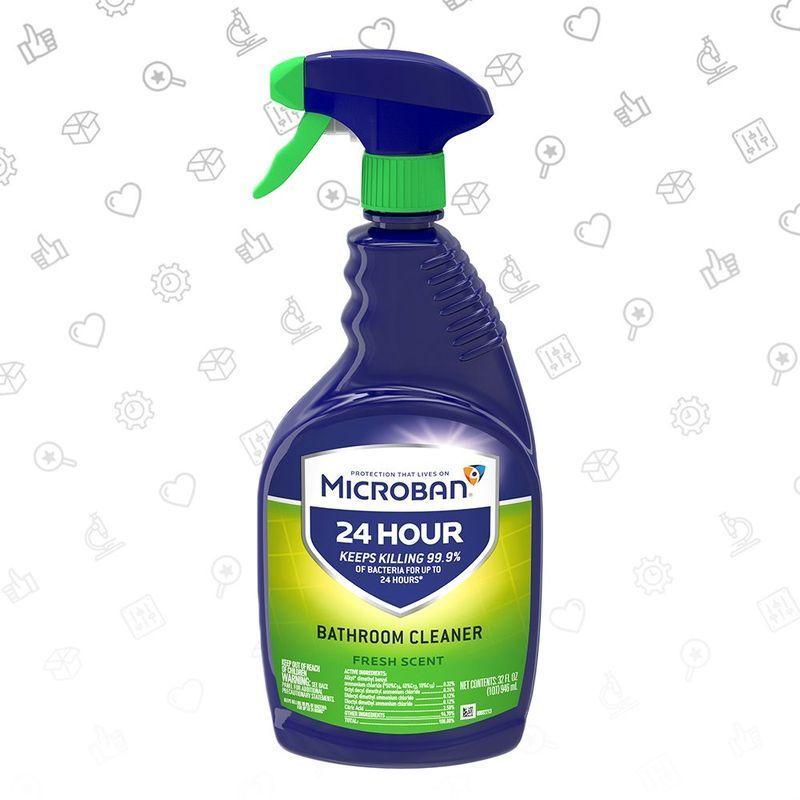 microban 24 bathroom cleaner and sanitizing spray