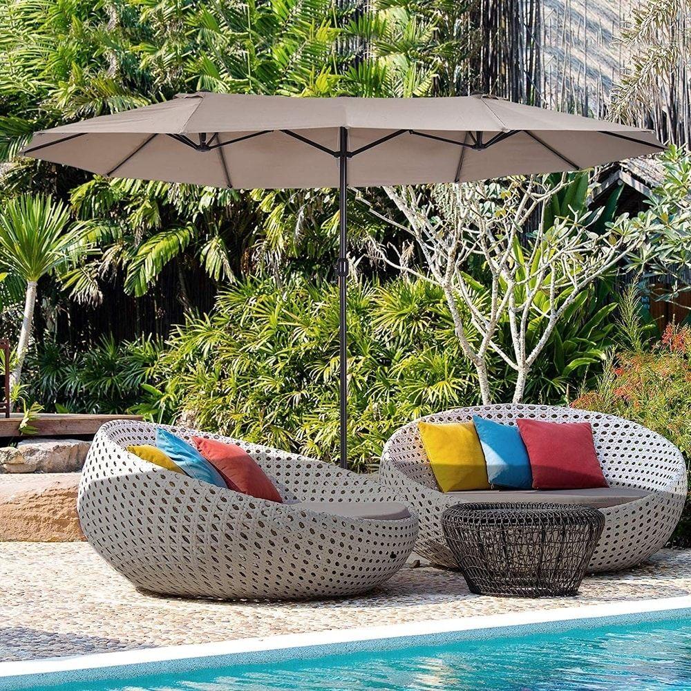 north bend 15 foot rectangular outdoor market umbrella