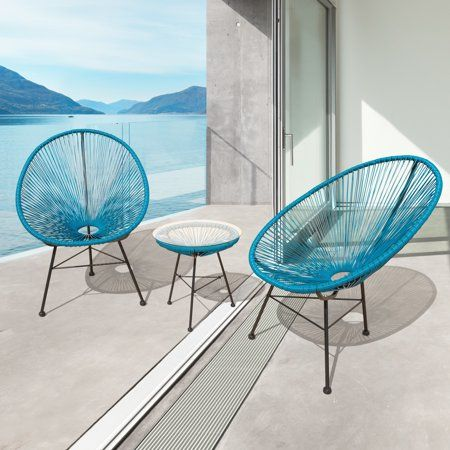 sarcelles modern wicker patio chairs set of 2