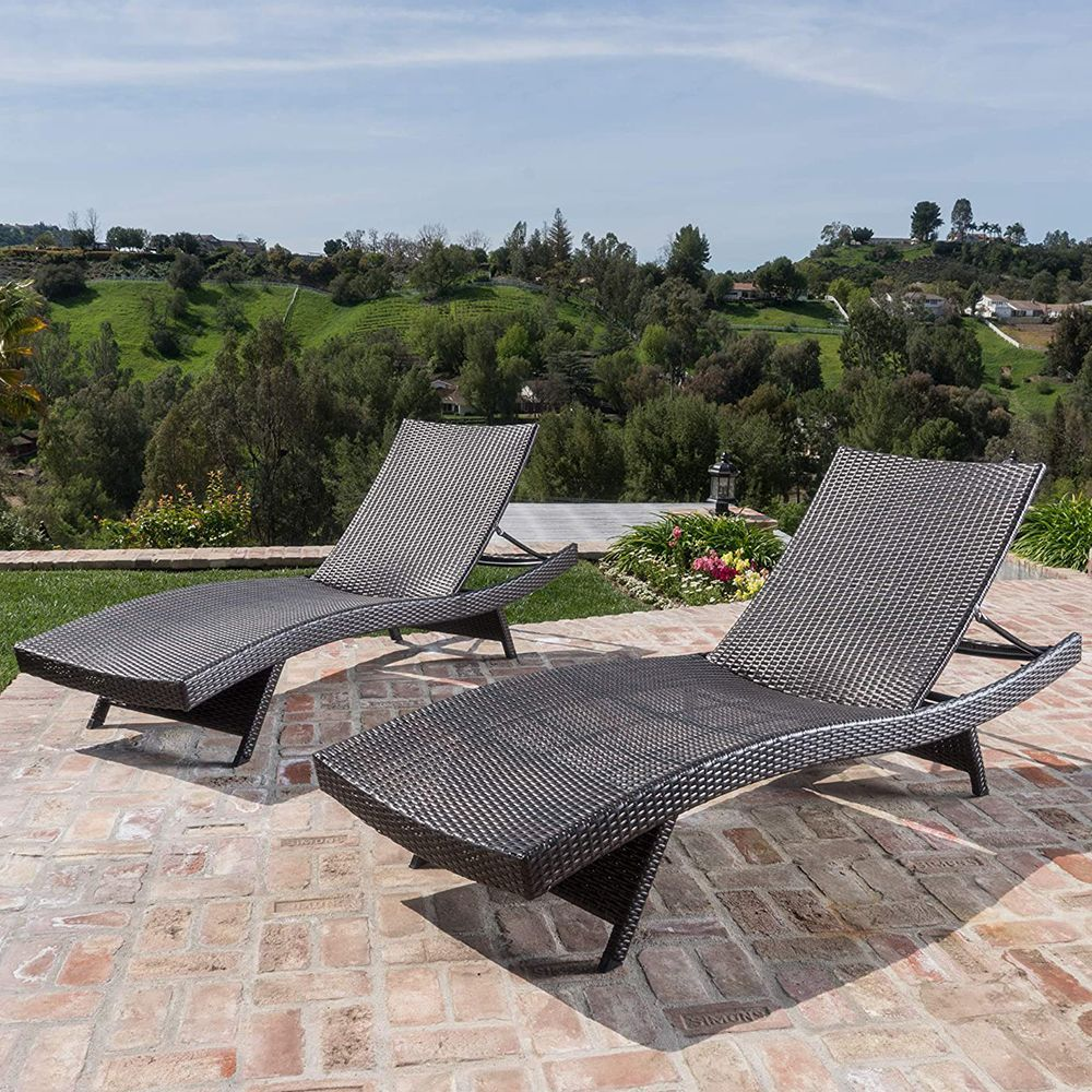 outdoor adjustable chaise lounge chairs set of 2