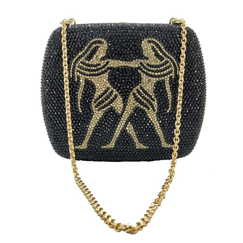 Crystal Zodiac Minaudiere Evening Bag