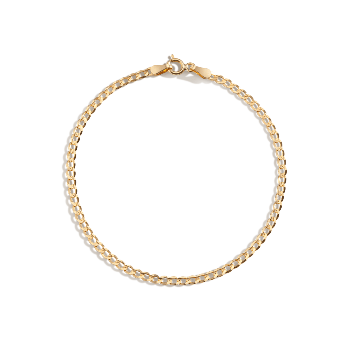Medium Gold Curb Chain Bracelet