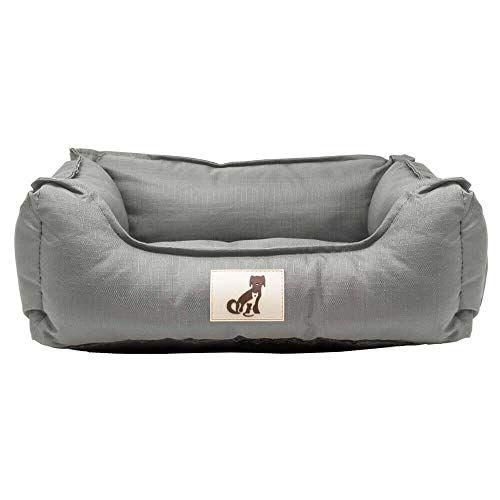 AllPetSolutions Dexter Beds Soft Waterproof Washable Hardwearing Basket Dog Bed (M, Grey)