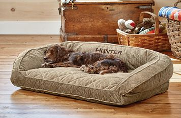 Orvis ComfortFill-Eco™ Bolster Dog Bed