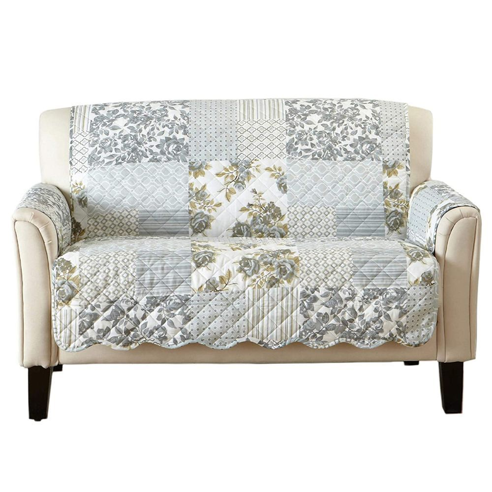 great bay home patchwork loveseat cover