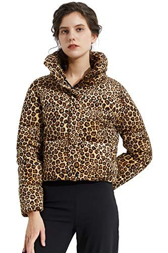 Women's Leopard Print Down Jacket