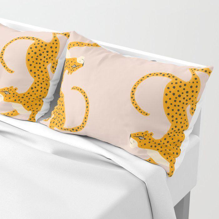 leopard race pillow sham