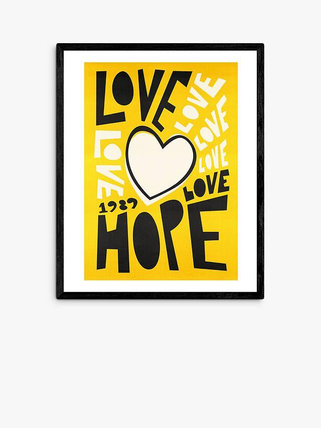 Fox & Velvet - 'Love' Wood Framed Print, John Lewis, £80