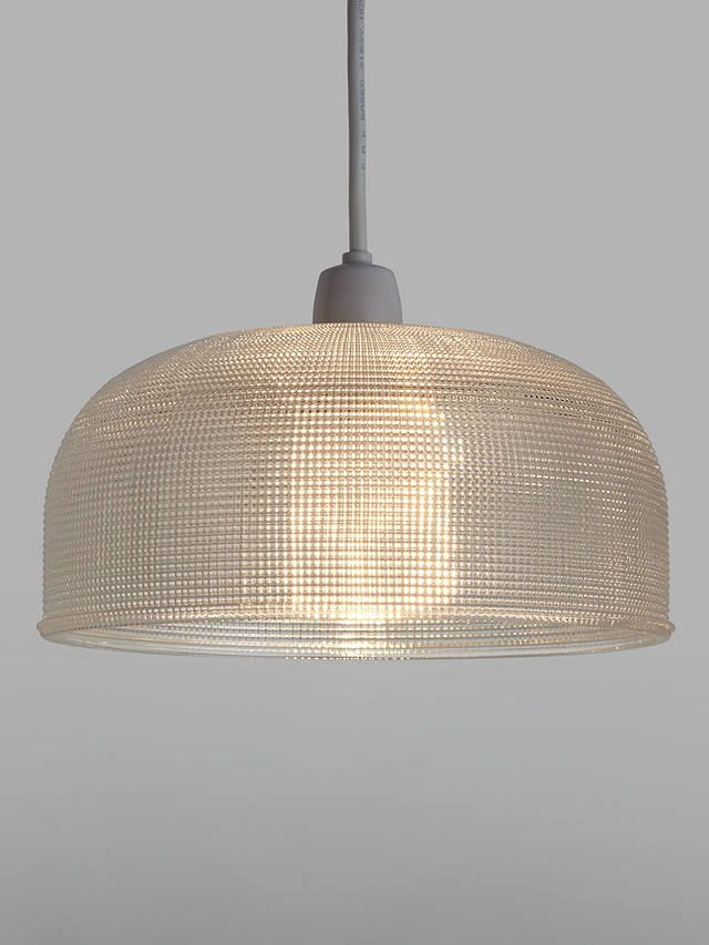 Prismatic Glass Clear Ceiling Shade, John Lewis, £50