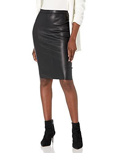 Avana Leather Pencil Skirt