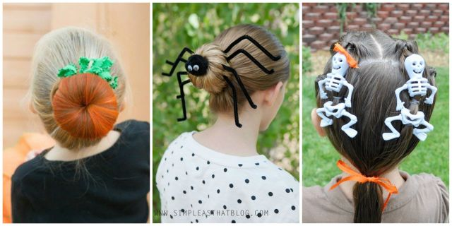 8 halloween hair ideas for kids - easy halloween hair