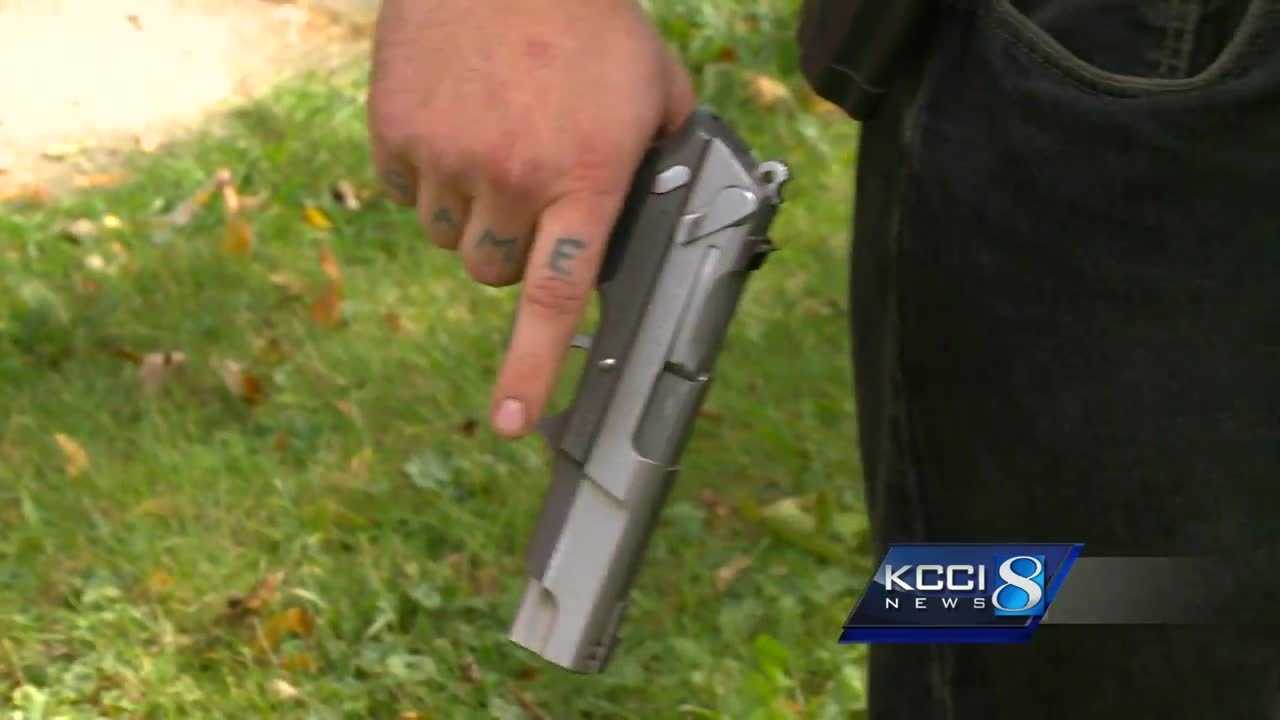 Masked vandals stopped by neighbor with gun