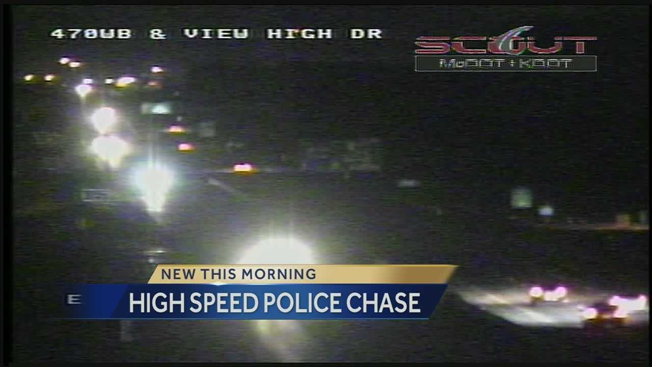 High speed chase ends in front of KC Police headquarters
