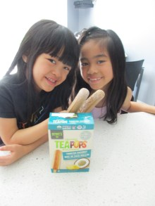 H & A couldn't wait to try their second tea pop!