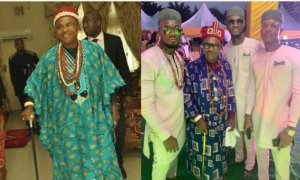 Meet BBNaija's Prince Nelson's Father, King Of Imo Ebie Land In Imo State