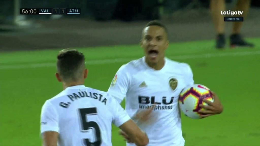 Valencia Vs Atlentico Madrid 1-1 Goal highlights
