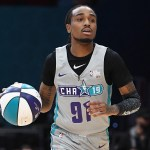 Quavo led all players with 27 points in Friday night's Celebrity All-Star game.