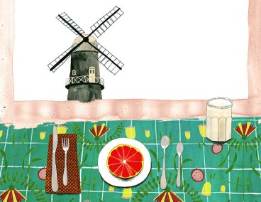 Windmill and Grapefruit by Anisa Makhoul
