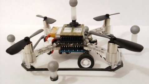 System of quadcopters that fly and drive suggest another approach to developing flying cars