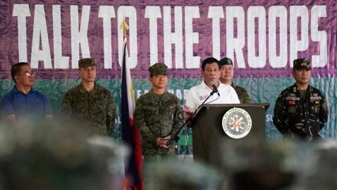 President Duterte says US hampers modernization of Philippines military