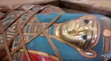 Archaeologists Discover Egyptian Mummy With Golden Burial Mask (PHOTOS)