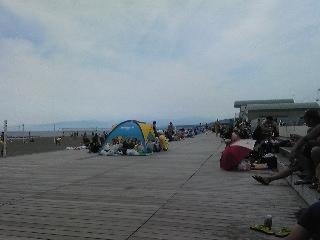 今日のビーチ
