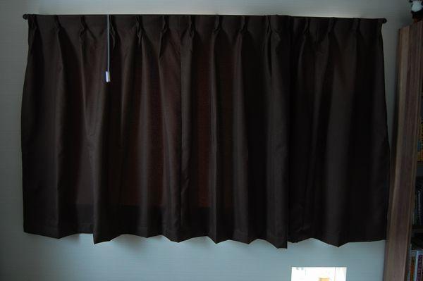 無印良品 オーダーカーテンをつけてみた