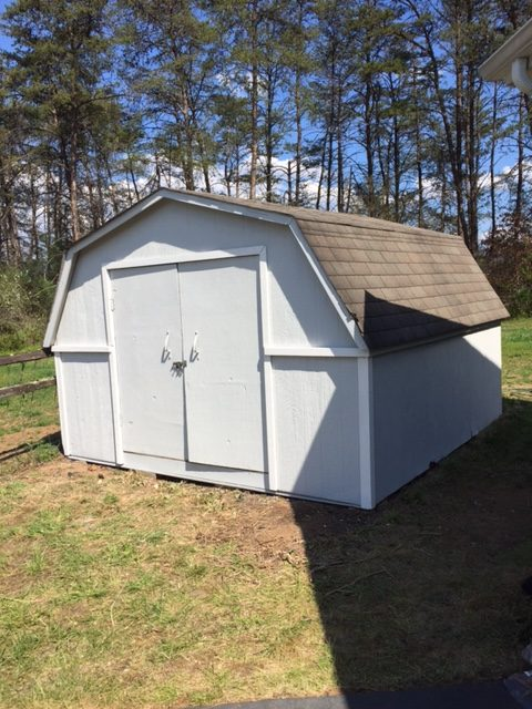 Shed after painting