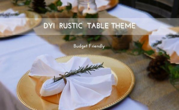 DIY RUSTIC FALL TABLE