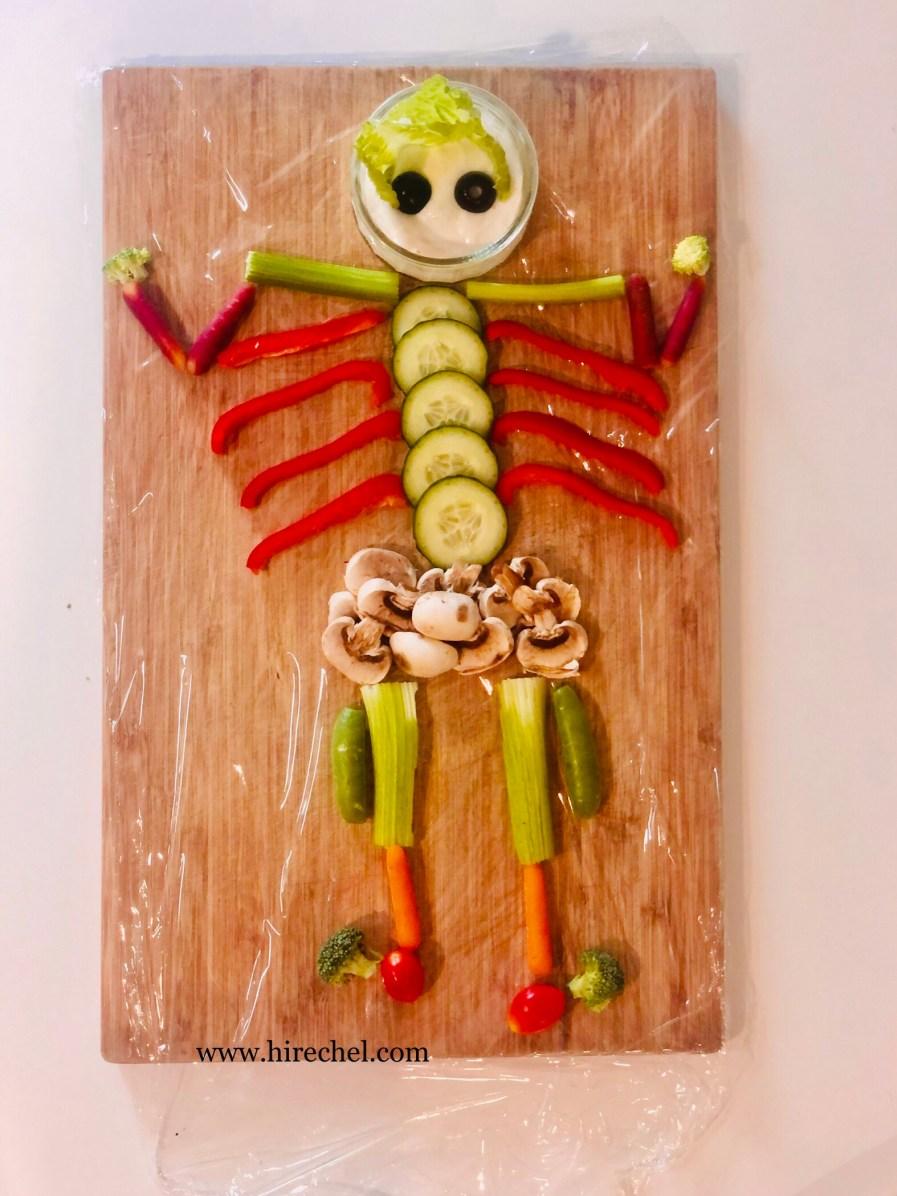 skeletal vegetable snacks
