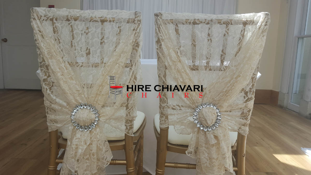 gold chiavari lace wedding