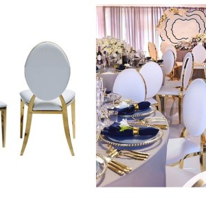 Hero display image gold rim chair