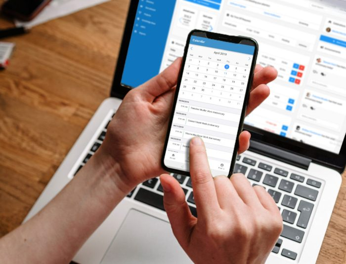 hr calendar hrm mobile application