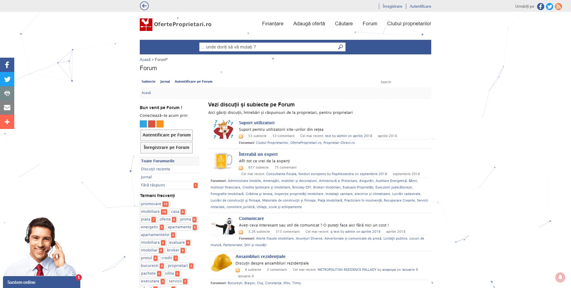 Forum suport utilizatori