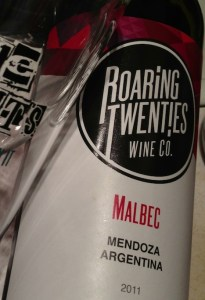 Roaring Twenties: Imported and bottled in Canada—the label says it all.