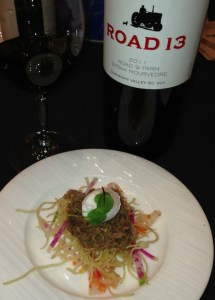 First Place: Killjoy Barbers lamb hash with Road 13 Syrah Mouvedre