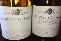 Burgundy Solutré and Pouilly Fuissé from Chateau Beauregard, at BCLS